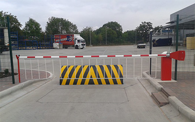 gates barriers shutters barrier with lorry ultimate fire and security