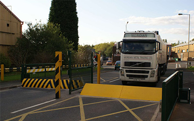 gates barriers shutters lorry approaching blocker ultimate fire and security