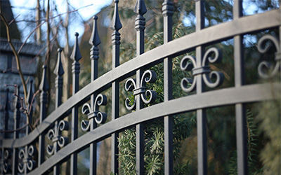 gates barriers shutters black metal fencing