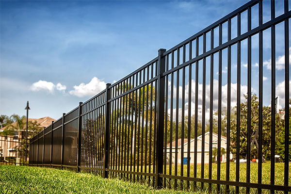 Black Metal Fencing Ultimate Fire & Security