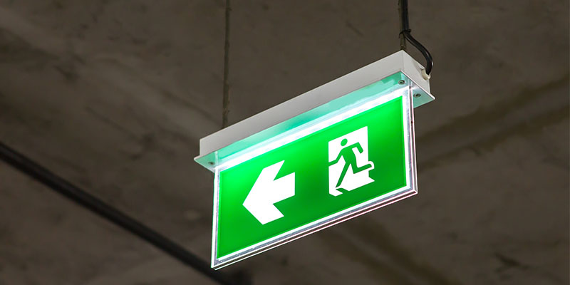 Emergency Lighting Sign Ultimate Fire & Security