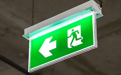 life safety emergency lighting sign ultimate fire and security